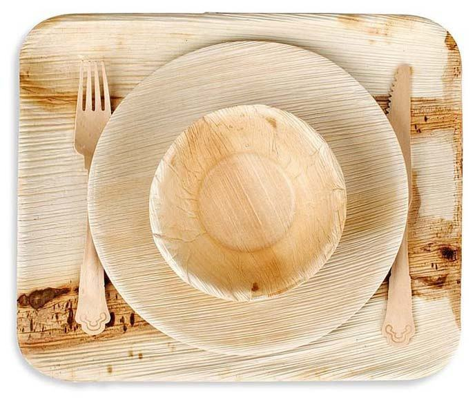 Eco friendly disposable Banana leaf biodegradable areca leaf plates palm leaf plates dinnerware for restaurant