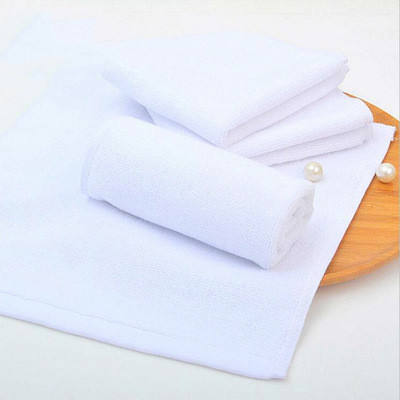 Custom 30 * 50 cotton white towel custom logo gift absorbent towel