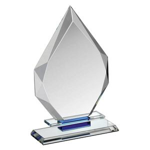 Personalized Jade Clear Crystal Glass Trophy Award Facetted Ice Peak for engrave