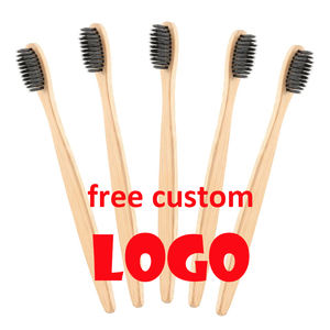 Biodegradable Eco Friendly Adult Soft Bamboo Toothbrush With Natural Nylon Bristles,Customize logo