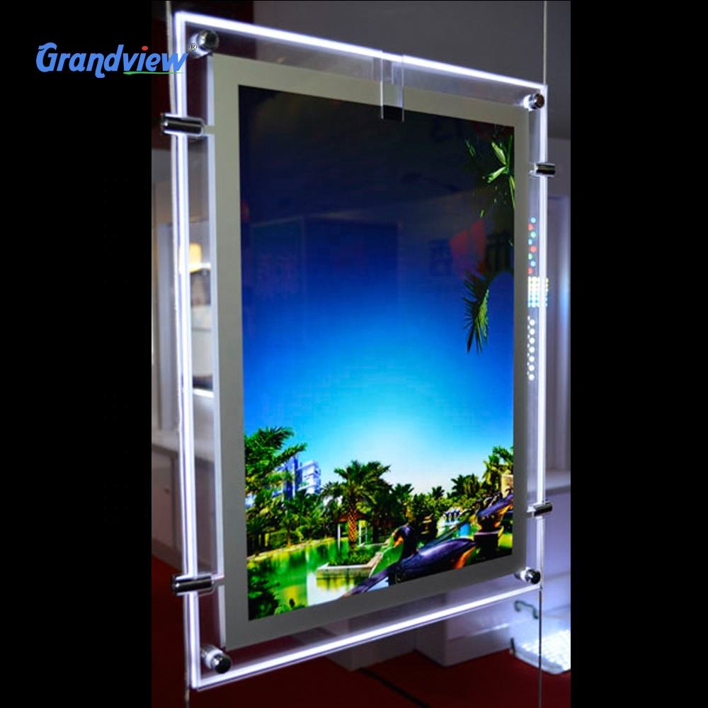 Best quality advertising slim 2 sides photo light box for store
