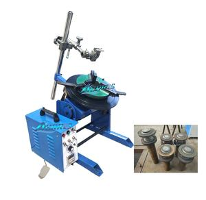 Small Light Positioner Welding Turntable 100kg With Torch Holder And Pneumatic Tailstock 220V 110V