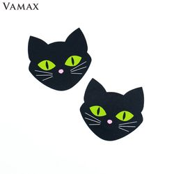 1 pairs Luminous Cat Eyes Nipple Cover Pasties Women Breast Silicone Cover Stickers Pad Bra Accessories