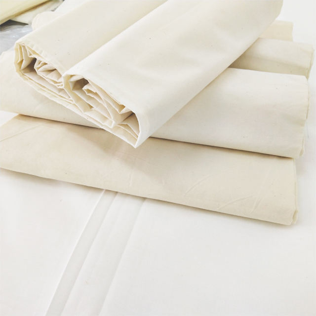 110*76 Density and Polyester/Cotton Material Wholesale TC cotton touch greige/grey plain fabric
