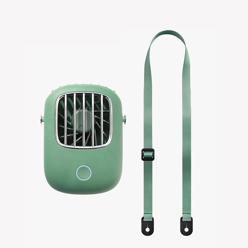 Portable mini fan usb rechargeable cooling hands-free hanging neck band fan for outdoors traveling 2020 New Hanging Neck USB Fan