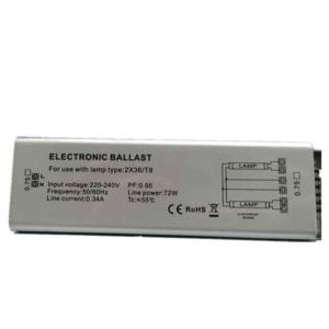 Wide Voltage Fluorescent Lamp Balla USE 2X36 T8 electronic ballast