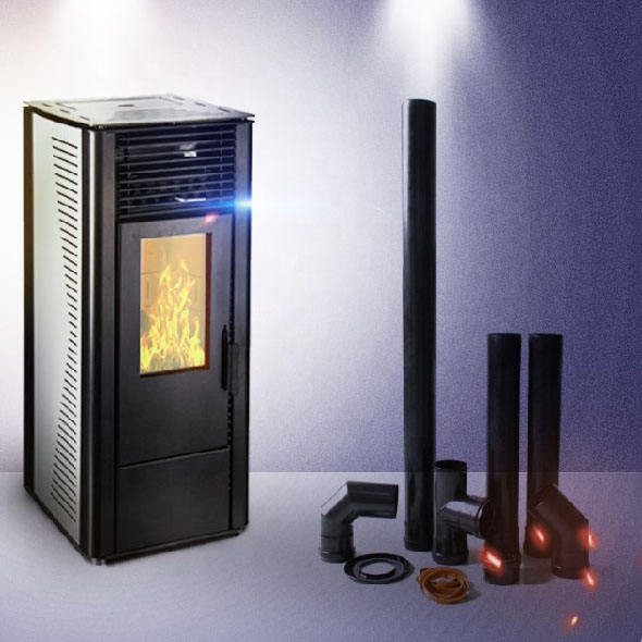 Cheap wood pellet stove cooking with Italian control board