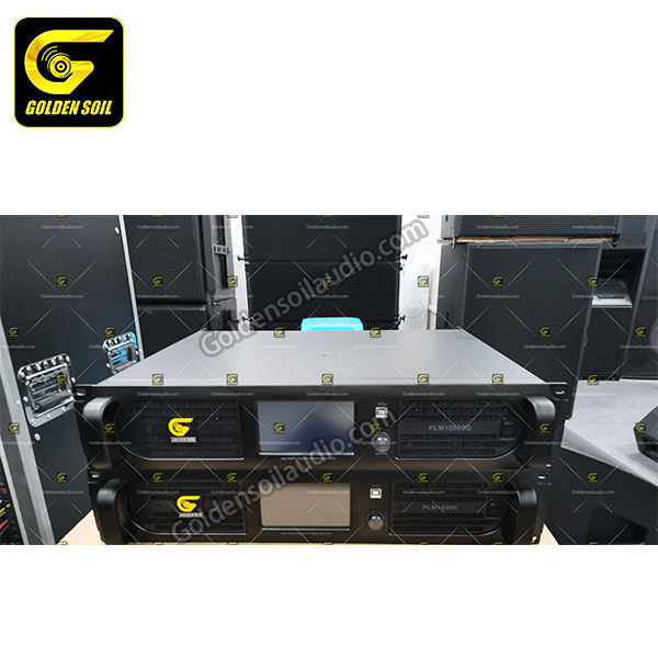 Dsp power amplifier P L M 14000Q amplifier rack 2 channel class d power amplifier boxes speakers PA audio