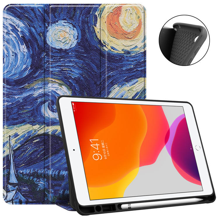 Custom Printed Trifold Flip Stand PU Leather Tablet Cover for ipad pro 11 2020 OEM Leather Cover
