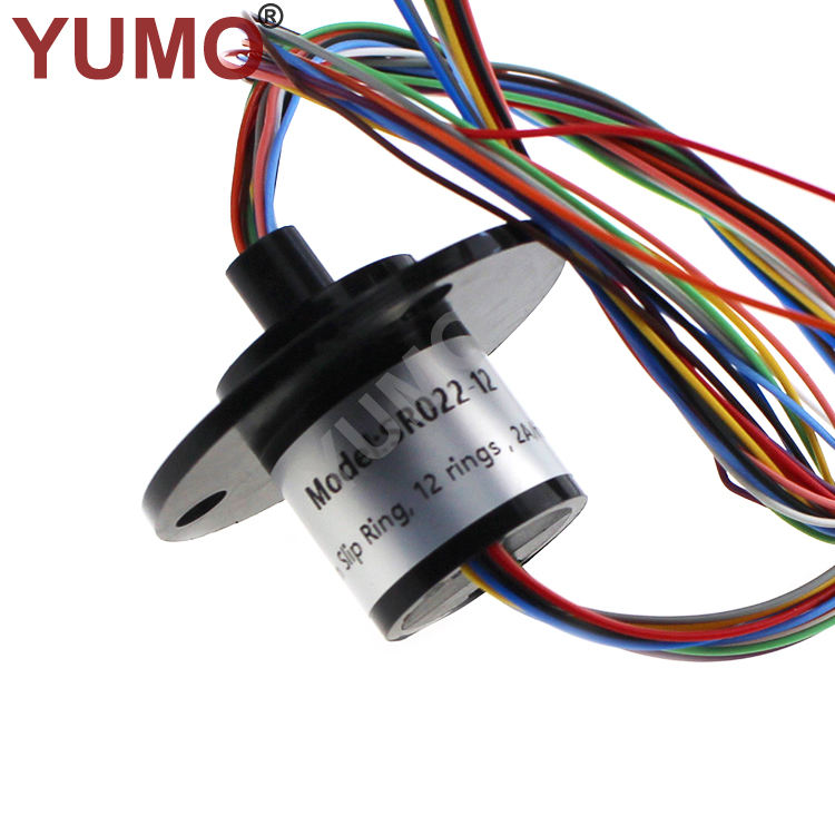 SR022-12 OD 22mm 12wires 2A collect electrical slip ring