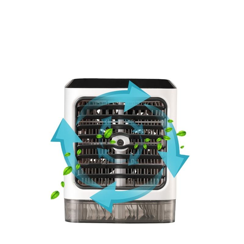 AC USB Desktop Portable Air Conditioner Mini Fan Water Spray Fan Conditioner Fan Mini Air Conditioner