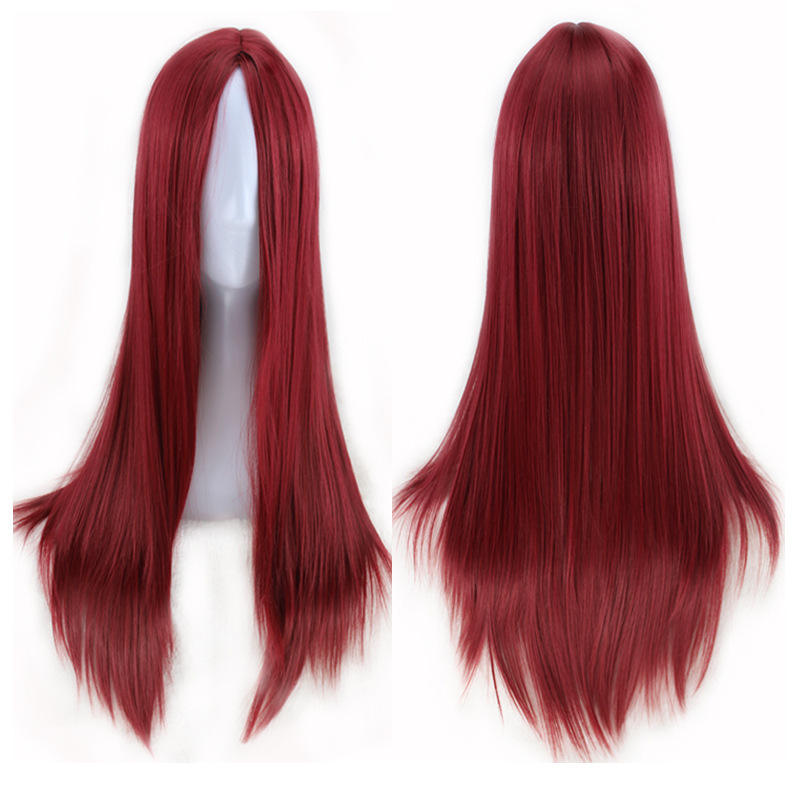 100% virgin Wanmei European and American long straight hair whole sale African wig chemical fiber headgear