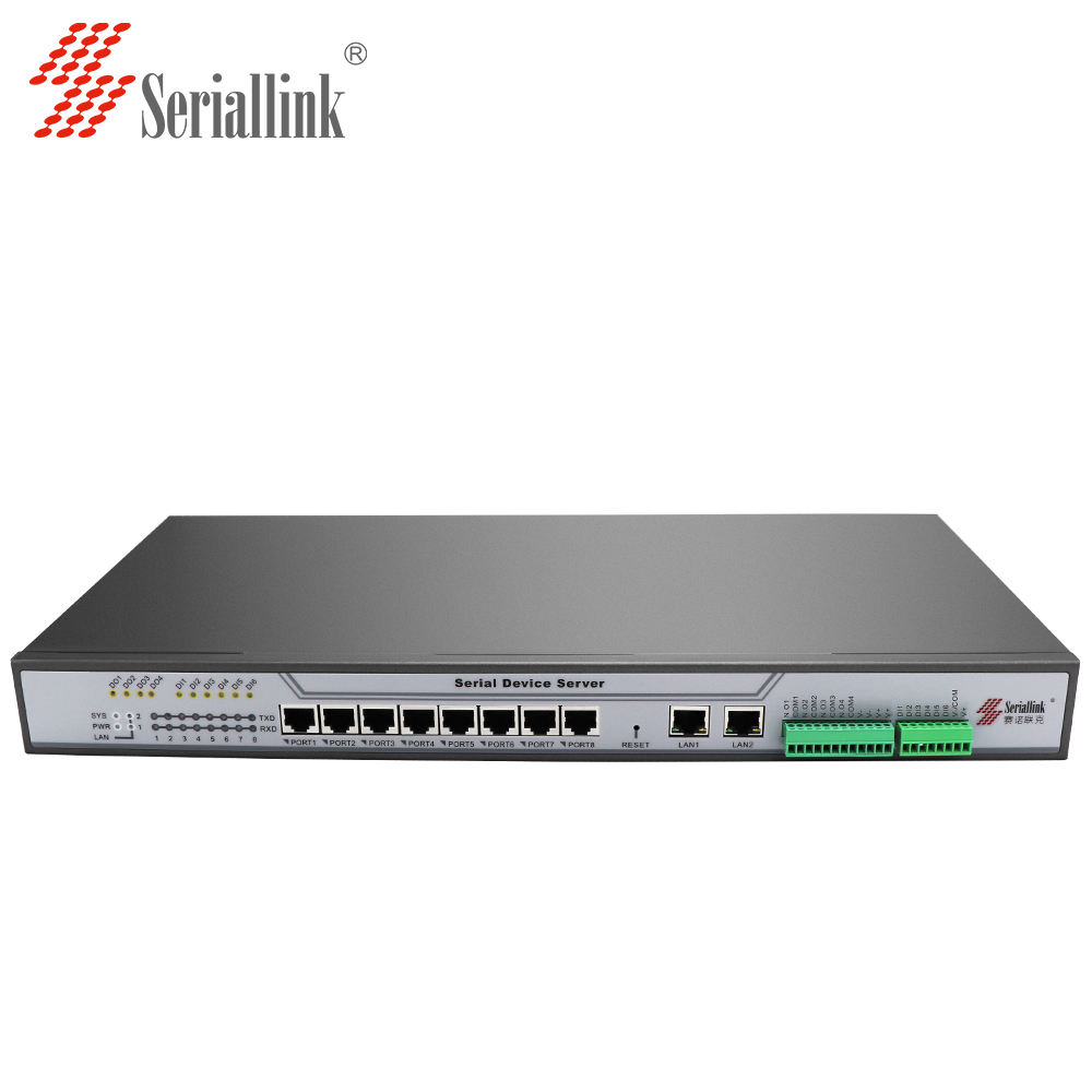 Hot Sale Seriallink S508R 8 Ports RS232/485 to Ethernet Serial Device Server