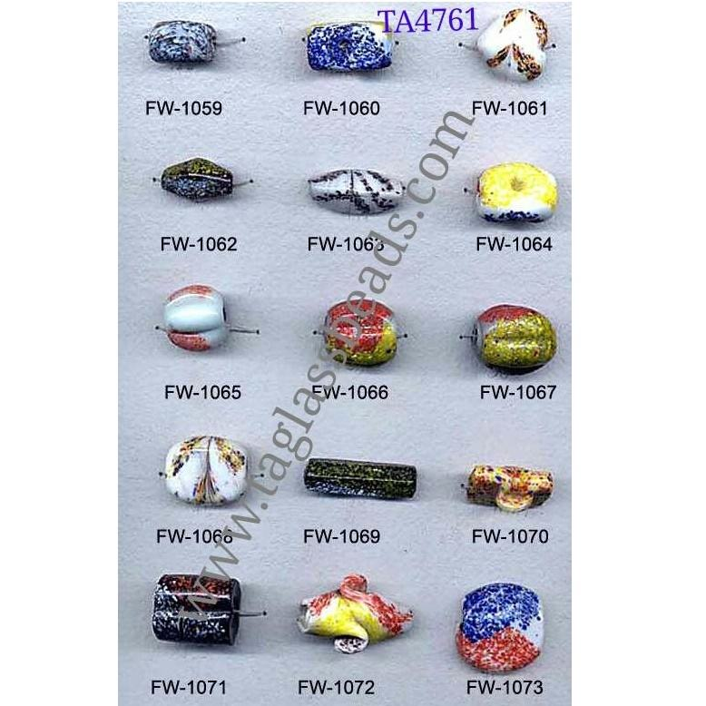 Unique african trade beads from india lampwork glass beads