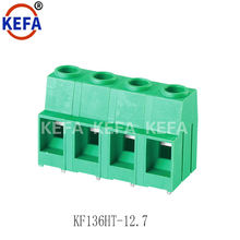 Single pin PCB screw terminal block connector 12.7mm high voltage dual row pin 300V 57A 10mm wire connector KF136HT-12.7