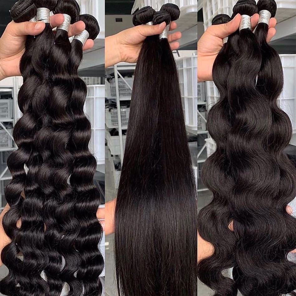 Free Sample Raw Human Hair Weave 8-40inch Virgin Remy Cuticle Aligned Mink Peruvian Human Hair Bundles with Closure Wholesale