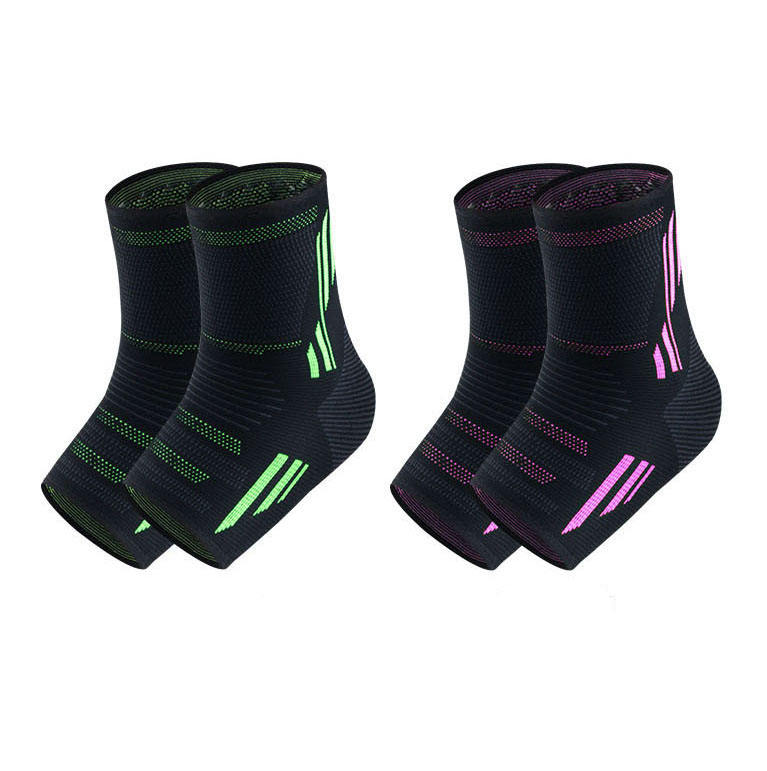 Elastic adjustable colorful outdoor badminton ankle brace compression support