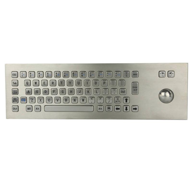 IP65 Dynamische Industrie Metall Kiosk Kompakte Tastatur mit Ruggedized <span class=keywords><strong>Trackball</strong></span>
