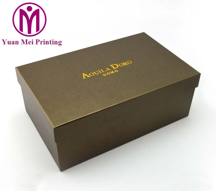 Wholesale custom plain printing logo pattern shoe packaging paper box for shoes store