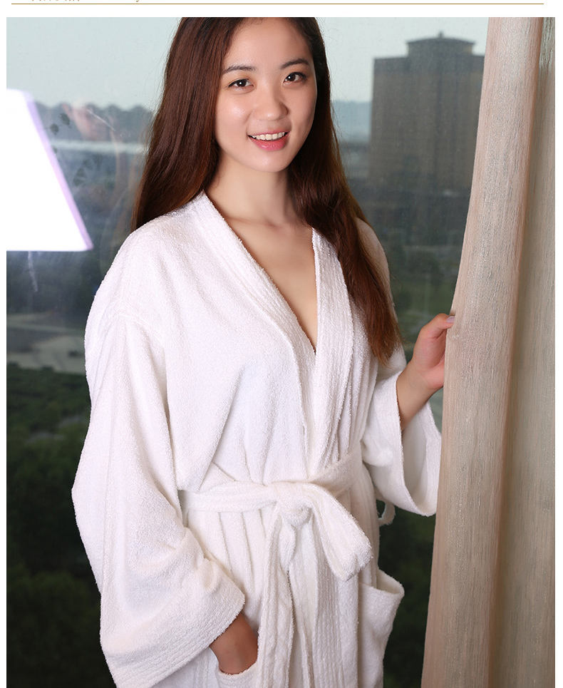 china factory wholesale price L size White Hotel cheap disposable spa robes