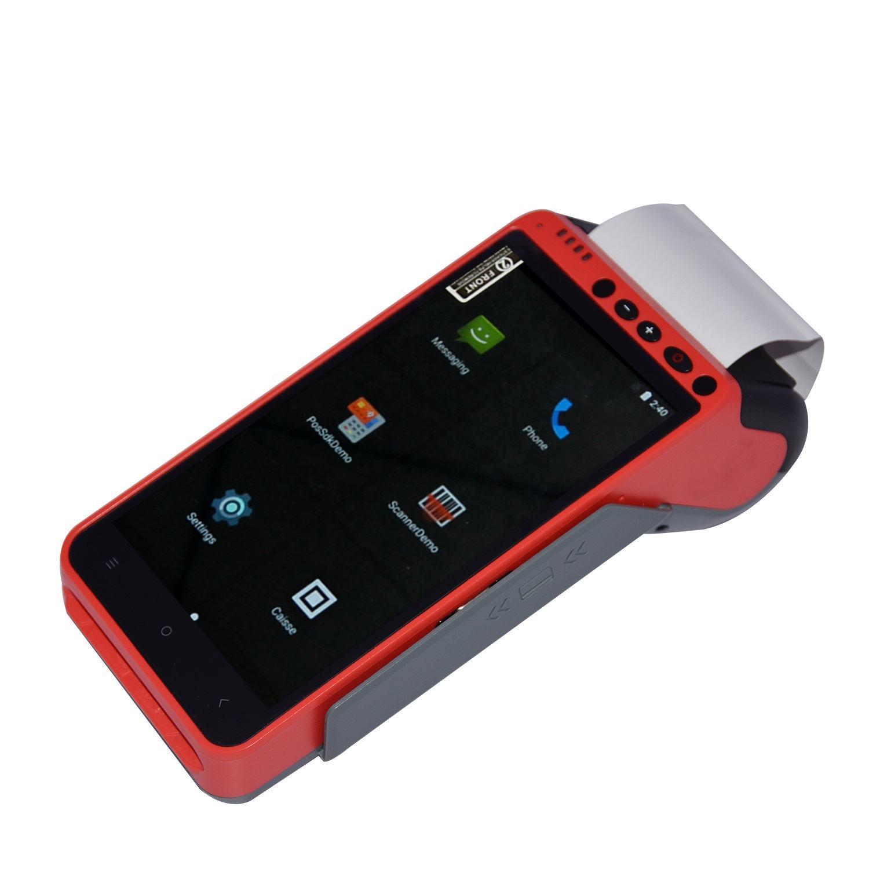 Macchina Fattura senza fili NFC Android Smart Custom Manico <span class=keywords><strong>Lungo</strong></span> Le Vendite Al Dettaglio <span class=keywords><strong>POS</strong></span> Terminale Con Scanner Z100C