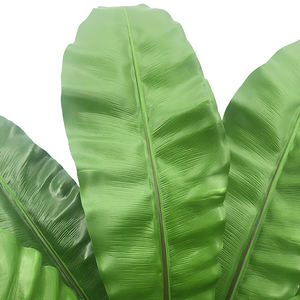 Artificial Fakes Decorative Banana Leaf Tree Artificial Banana Tree Plant Green Ocean Handmade OEM China Time Lead Work Rubber