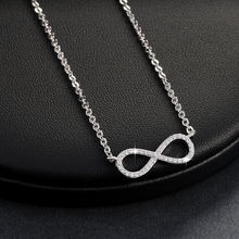 RINNTIN ON103 Hot Sale Platinum Plated Necklace Jewellery Infinity Pendant Necklace