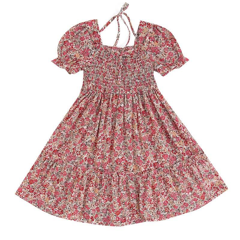 Baby Girl Dress Floral Print Princess Dresses For Designer daily life casual puffy dress Polka dot Kids Summer Clothes