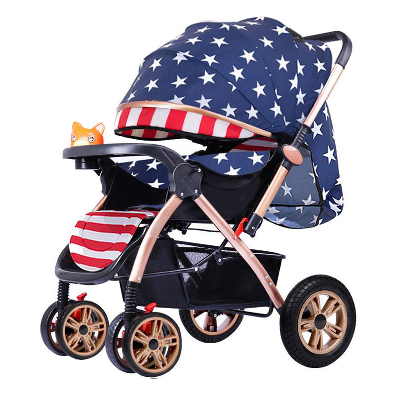Cheap multifunction stroller large storge baby pram pushchair