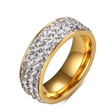 Stainless Steel Engagement Diamond Jewelry Ring For Girl