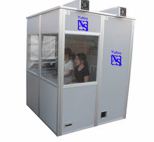 Translation interpreter booth for booth interpretation with double acrylic wall insulation design