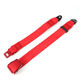 Aluminum airplane safety buckle seat belt webbing red aircraft seat belt