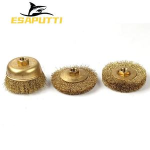 Wire Copper Brush Factory Direct Sale Non Sparking Hand Tools Brass Wire Crimped Cup Copper Wire Brush