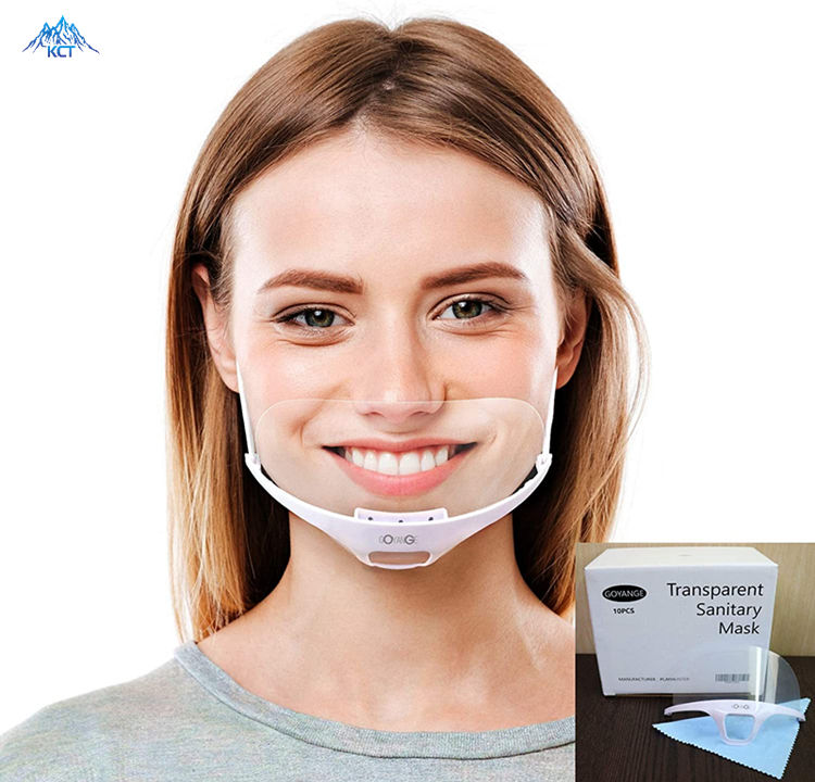 Transparent Mouth Shield Plastic Clear Nose Pet Anti-Fog Protective Pvc Reusable Dust Smart Safety Food Smile Face Mask