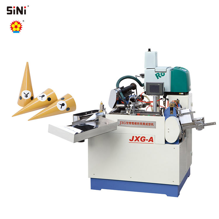 China Suppliers Fully Automatic Ice Cream Cup Paper Cone Sleeve Making Machine ice cream paper cone making machine