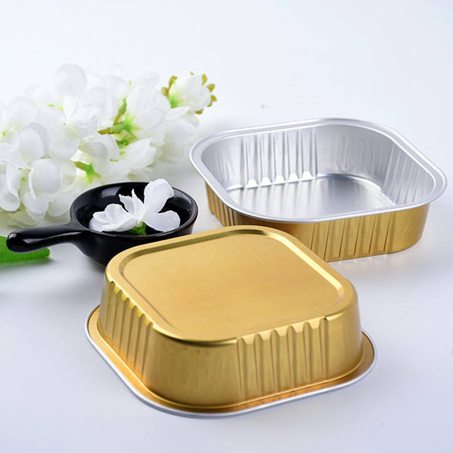 Work Home OEM 125ml Aluminium Foil Tray Colorful Square Aluminum Foil Bread Pan