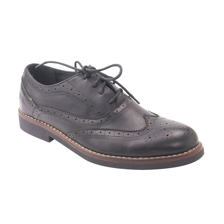 Good Quality lace-up black leather oxford formal shoes men