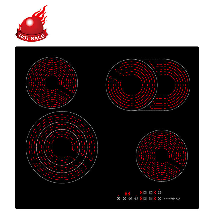 Factory Price Chinese Supplier 4mm hot pot fly milk water BBQ electric ceramic cooker cooktop infared cooker