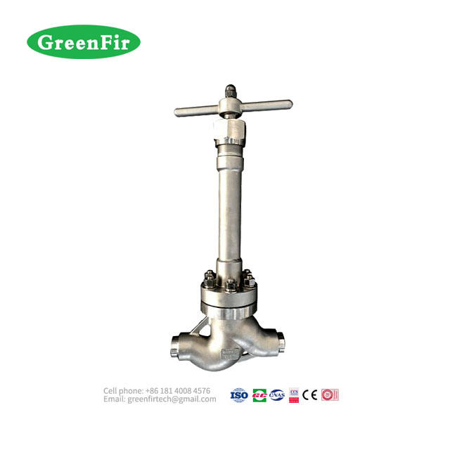 PN200 High Pressure Cryogenic Globe Valve for liquid oxygen