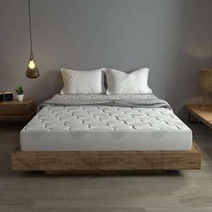 High quality customized furniture bedroom set knitted fabric sleeping well memory foam 7-zone pocket spring mattress