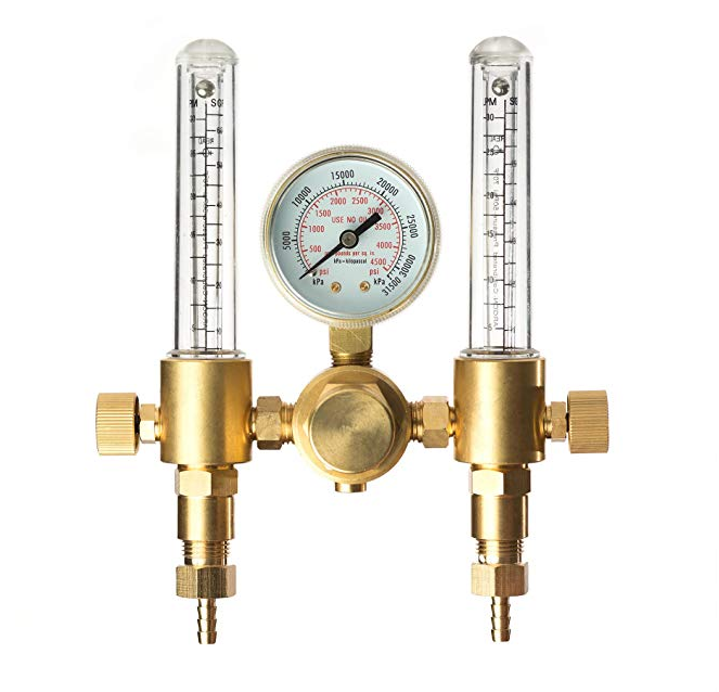 Dual Stage Argon/CO2 Flowmeter Gas Regulator