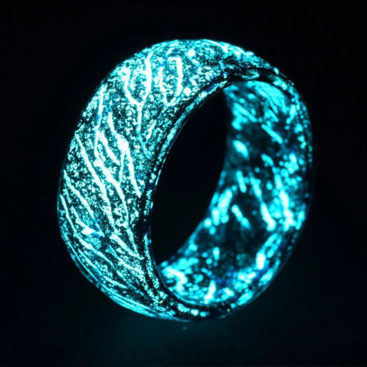 Fashionable Colorful Luminous Resin Ring Thermochromic Glowing In The Dark Rings For Women Men Jewelry