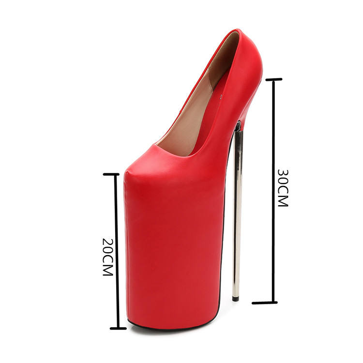 luxury closed toe sexy for women platform 30CM very super high heel shoes