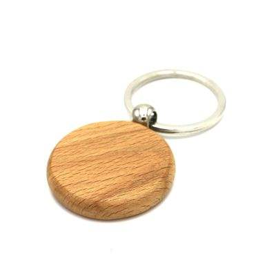 L746 DIY Blank Round Rectangle Wooden Key Chain Customized Logo Tags Promotional Gifts Wood keychains