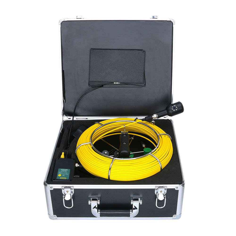 7inch 50M 1080P HD Dual Camera Lens Drain Sewer Pipeline Industrial Endoscope Pipe Inspection Video Camera