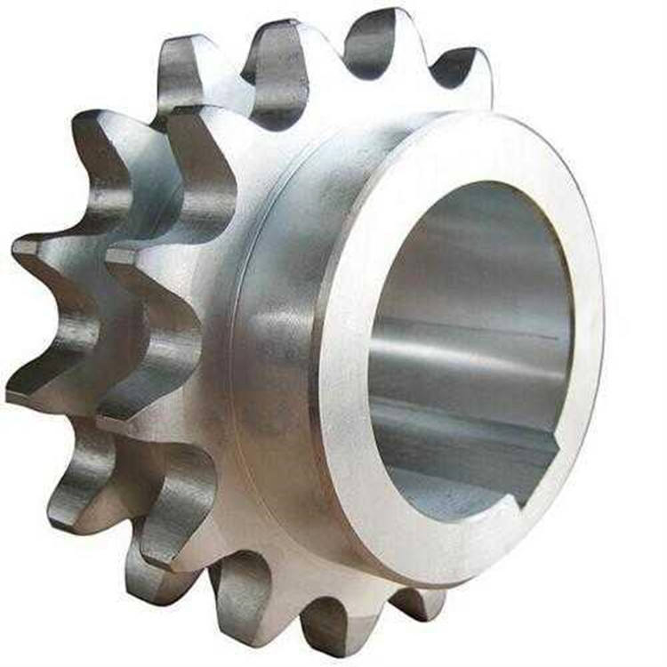 A B series standard double row sprocket for roller chains