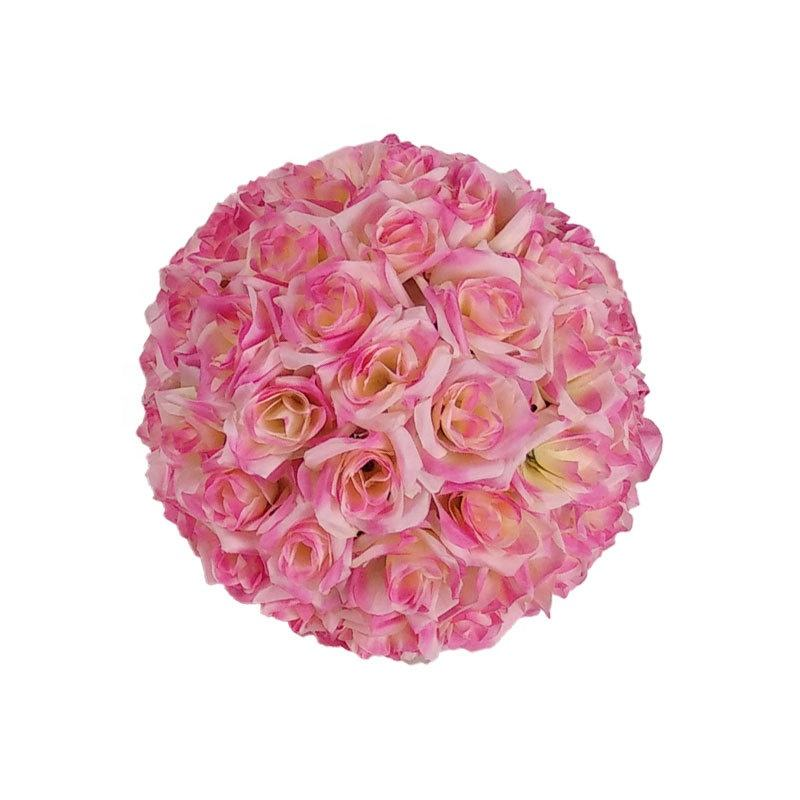wholesale colorful artificial flower ball for wedding centerpiece decoration