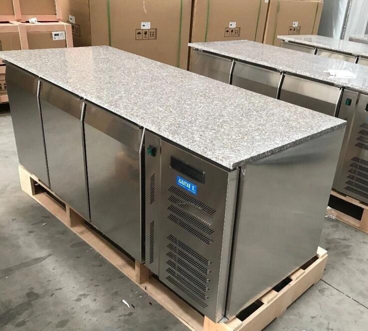 2 /3 /4 porte Della Cucina sottopiano freezer/Piano In Marmo in acciaio inox prep tavolo frigorifero