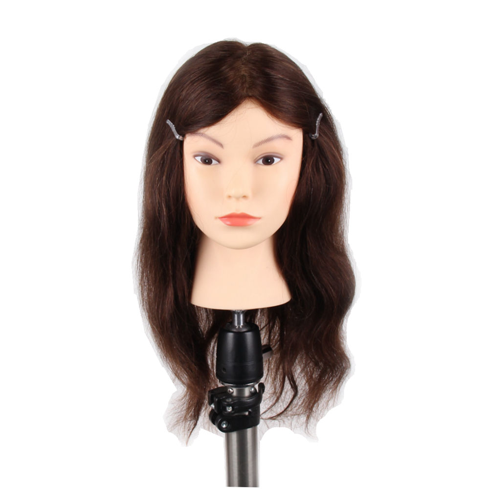 Cheap 100% Indian human hair training doll head hairdresser hair model with remy hair
