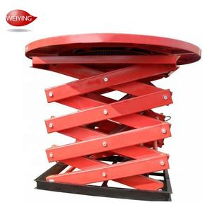 Widely Used 12M Manual Scissor Fixed Hydraulic Lift/Small Platform Scissor Lift